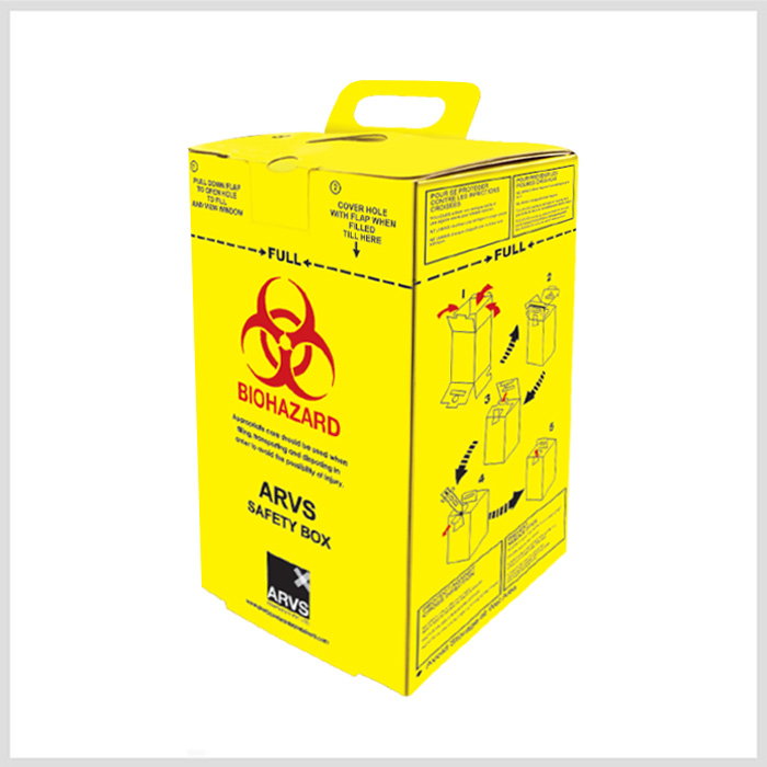 Arvs Safety Box Hospital Safety Box And Sharp Safety Box