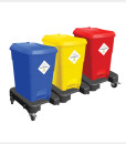 Waste Segregation Trolleys (15 P) - 3 Bin