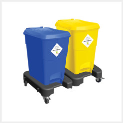 Waste Segregation Trolleys (15 P) - 2 Bin