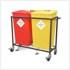 Waste Segregation Trolleys 2 bin ms