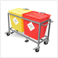 Waste Segregation Trolleys Stainless Steel 30 Ltr 2 Bin