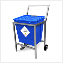Waste Segregation Trolleys Stainless Steel 30 Ltr