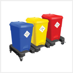 Waste Segregation Trolleys 30ltr 3 bin