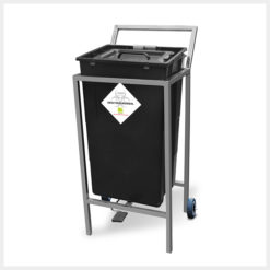 Waste Segregation Trolleys (Stainless Steel) 60 Ltr