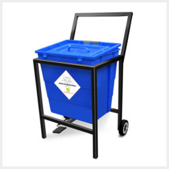 Waste Segregation Trolleys Mild Steel 30 Ltr
