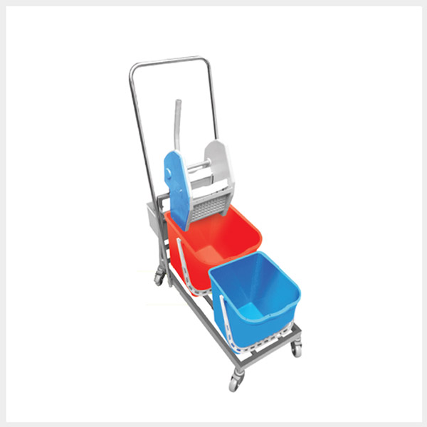 Hospital Waste Collection – Wringer Trolley – 2 Bin