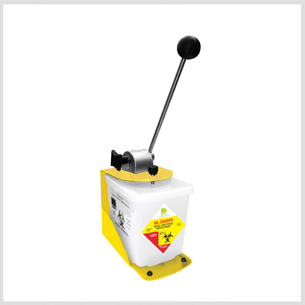 Manual Needle Destroyer – 0.8Ltr. with Polycarbonate Body