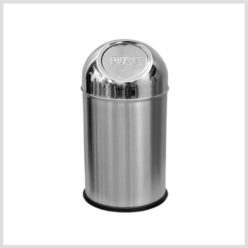 Push Can Bin Stainless Steel