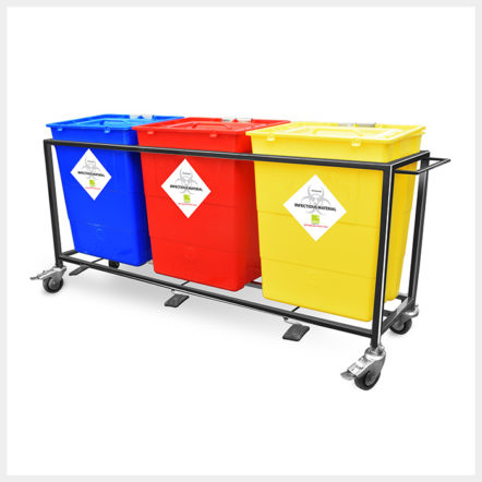 Biomedical Waste Trolleys Colour Coded Trolley 30 Ltrs